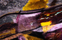 detail of art work - brush strokes of painting on canvas - abstract contemporary art